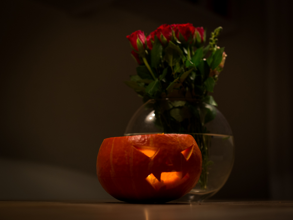 halloween homemade pumpkin